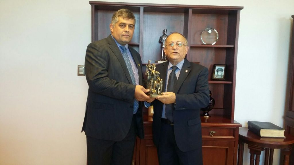 Anejud Malleco Cautin visita Presidente