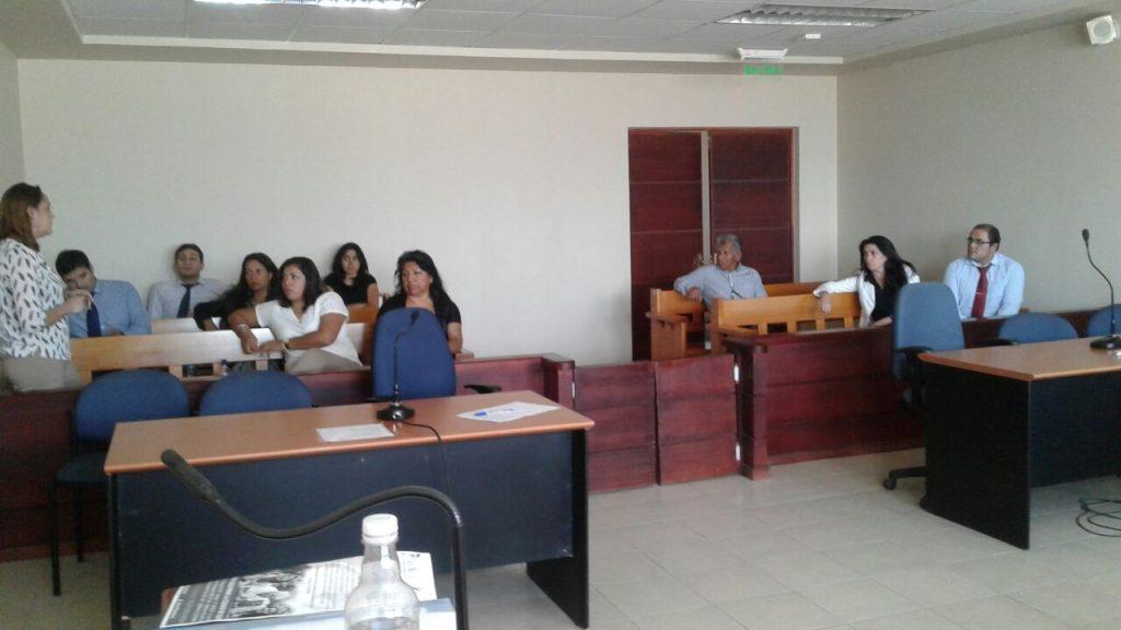 Anejud Tarapacá visita Tribunal de Pozo Almonte